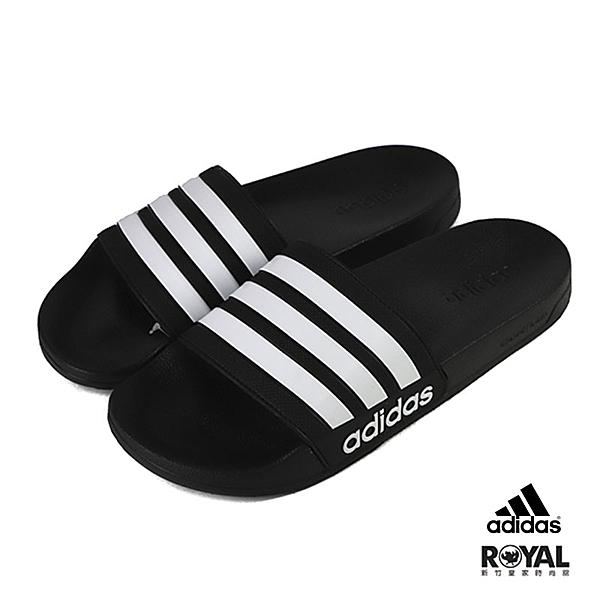 Adidas 黑色 橡膠 涼拖鞋 男女款NO.H2854【新竹皇家 AQ1701】