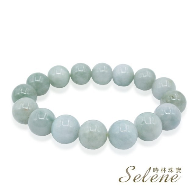 selene圓滿平安翡翠手珠(a貨翡翠 13mm)