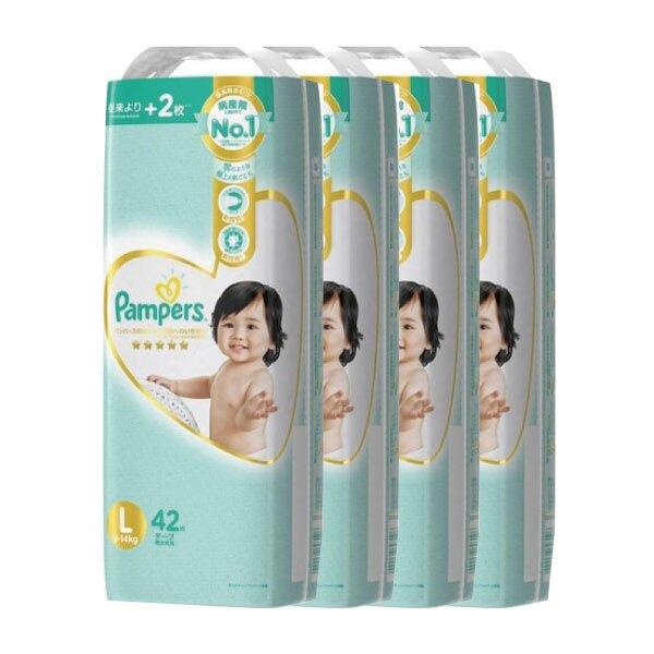 日本 2020全新改版 一級幫寶適紙尿布/箱購-L (100%日本製)