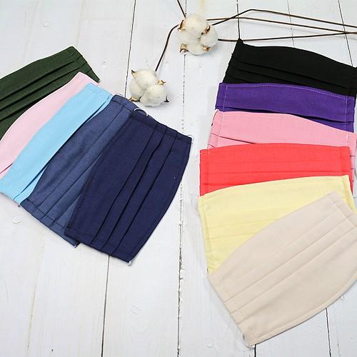 手作 機能性有機純棉布口罩套 3層縫製 100%純有機棉 素面多種顏色選擇 可重複使用 防疫作戰