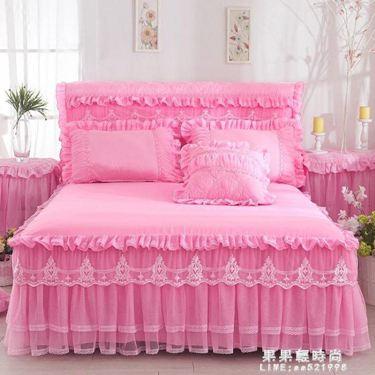 韓版蕾絲公主床裙床罩單件床蓋床套花邊防滑床笠1.8m床墊保護套