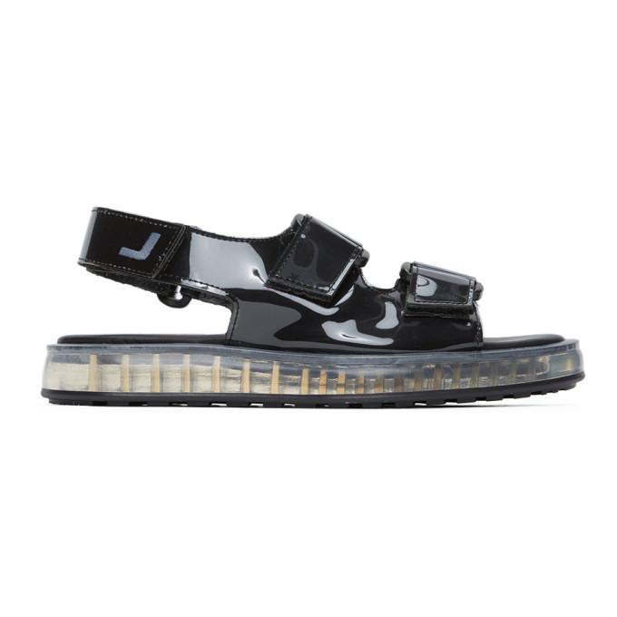 Joshua Sanders 黑色 PVC 透明鞋底凉鞋