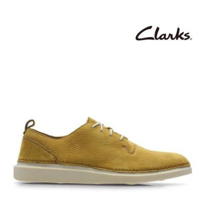 Clarks 步步清新 簡約復古精緻縫線設計休閒男鞋 赭色