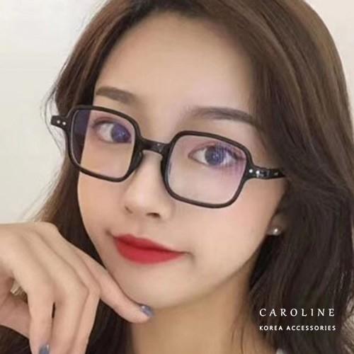 2色 年度最新款復古文藝造型時尚方框平光眼鏡 71983