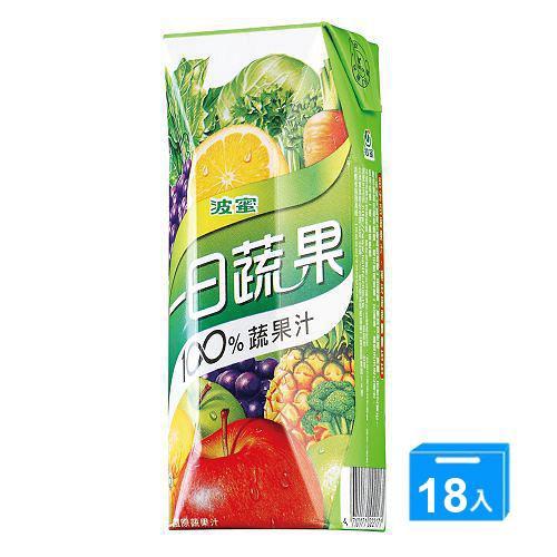 波蜜一日蔬果100%蔬果汁250ml*18【愛買】