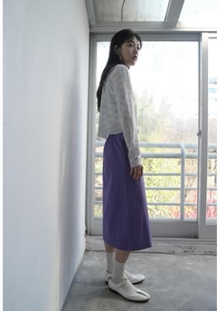 韓國空運 - linen pop color midi skirt 裙子
