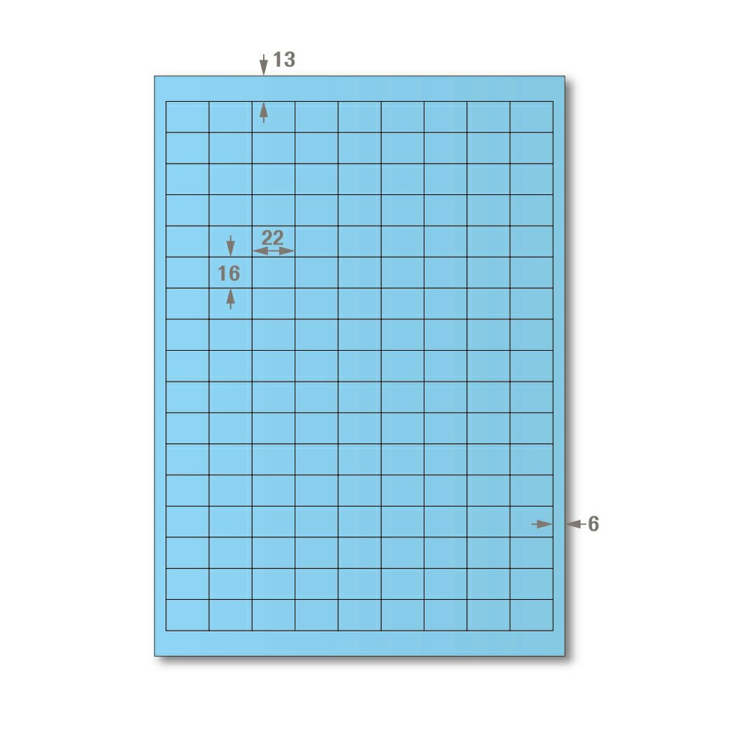 【萬用標籤貼】龍德高品質SGS檢驗合格三用電腦標籤貼紙(淺藍一盒裝)LD-871-B-A 可出貨用貼紙 影印 雷射 噴墨