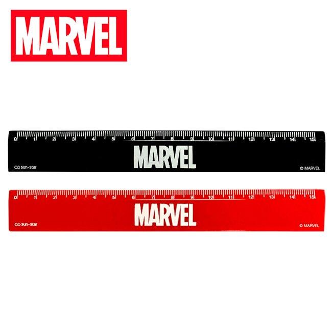 【日本正版】漫威英雄 直尺 15cm 塑膠尺 MARVEL