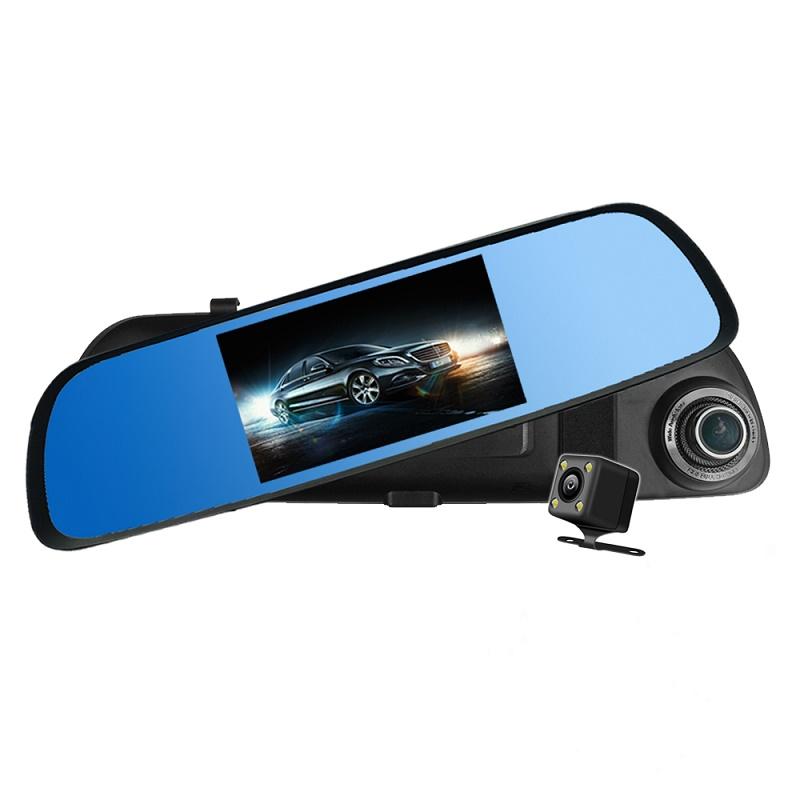 CORAL T6測速後視鏡觸控雙鏡行車紀錄器