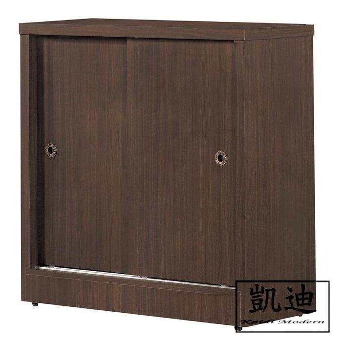 【凱迪家具】Q32 豐奇2.93尺胡桃拉門鞋櫃/大雙北市區滿五千元免運費