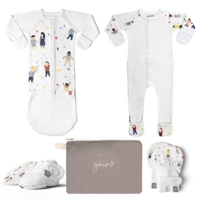 美國 GOUMIKIDS x 美國 Kate Pugsley 有機棉極致新生兒彌月組 (當我們童在一起)