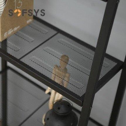 梯形置物架 置物架臥室鐵藝多層書架客廳儲物架裝飾陳列架展示架簡約梯形架子『MY2346』