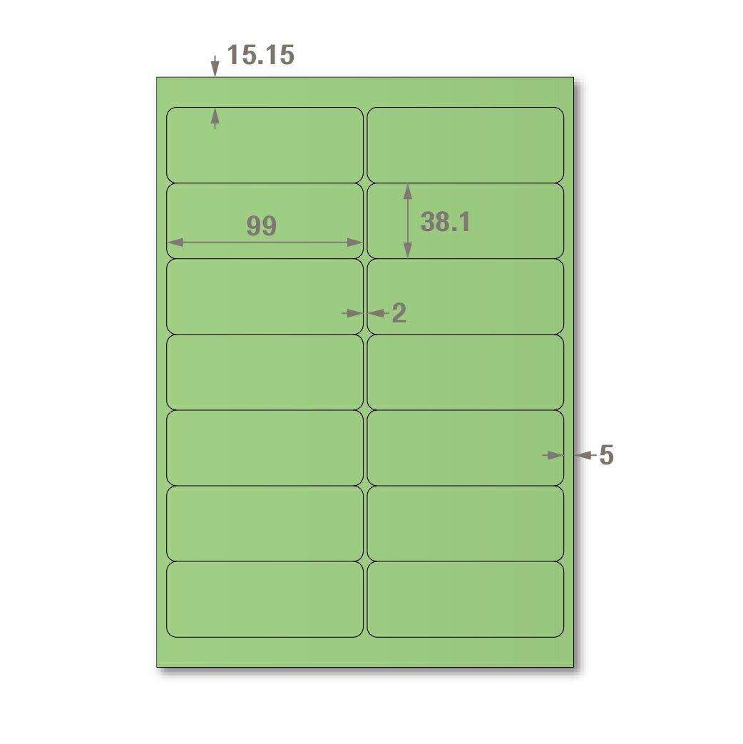【萬用標籤貼】龍德高品質SGS檢驗合格三用電腦標籤貼紙(淺綠一盒裝)LD-816-G-A 可出貨用貼紙 影印 雷射 噴墨