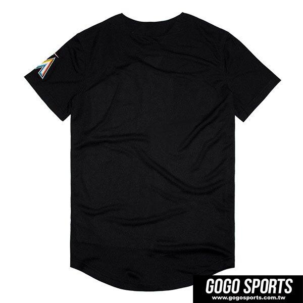 【毒】MLB MIA 邁阿密馬林魚 經典款 LOGO 黑色 棒球球衣