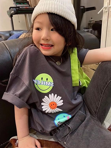 韓國童裝女童短袖t恤卡通印花2020夏季新款韓版潮休閒上衣中大童 店慶降價