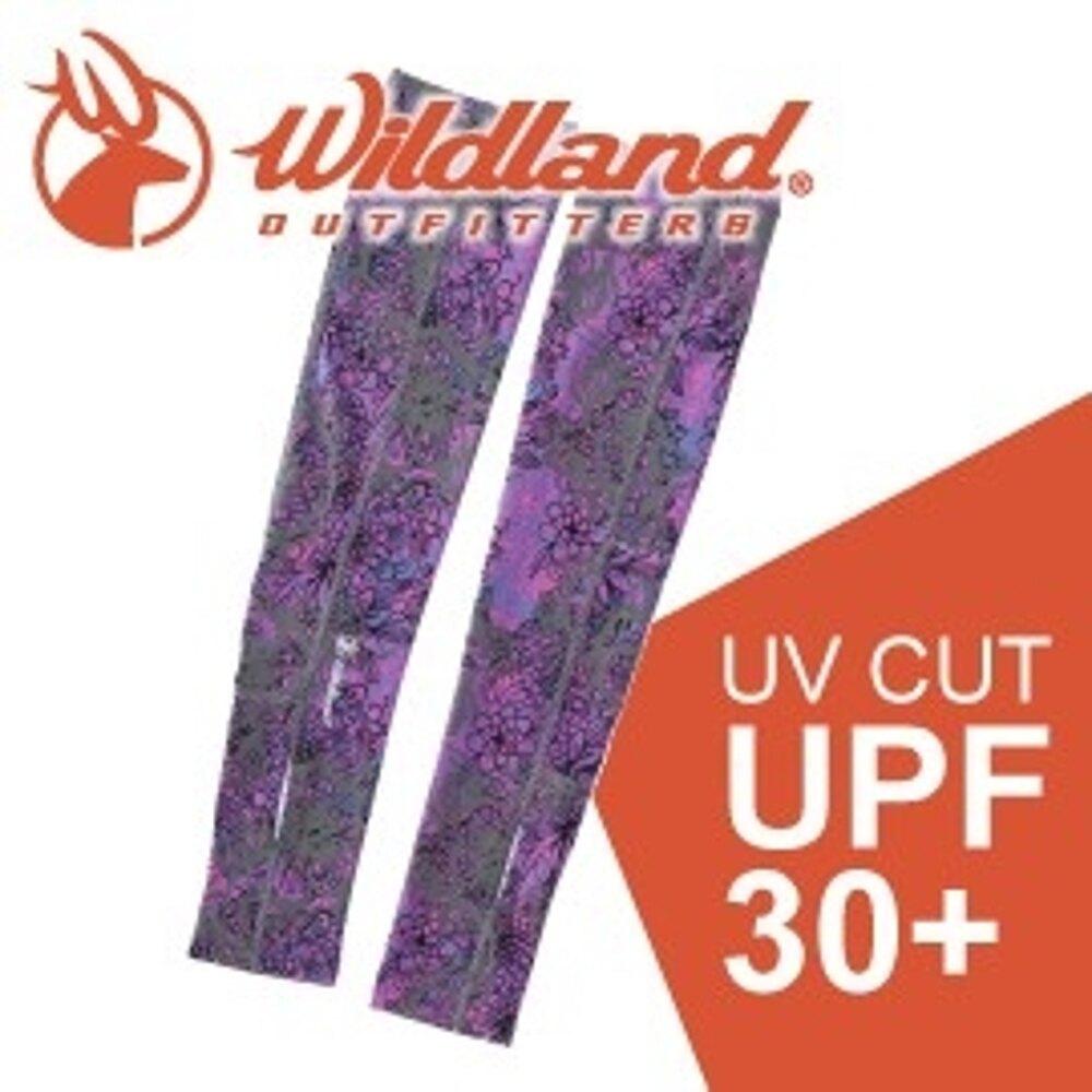 【Wildland 荒野 中性開洞抗UV透氣袖套《紫》】W1809/春夏款/抗UV/防曬袖套
