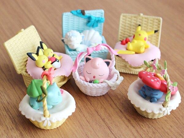 【寶可夢 野餐籃盒玩】寶可夢 野餐 餐籃 盒玩 公仔 Re-Ment 日本正版 該該貝比日本精品