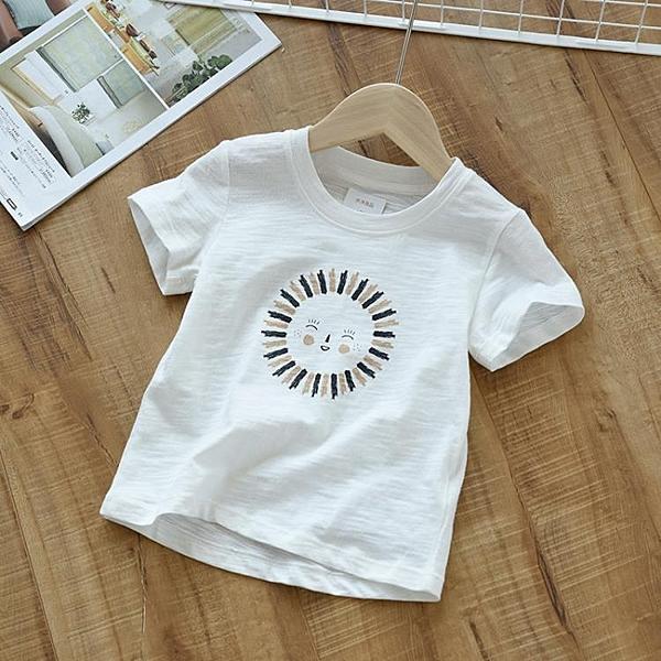 兒童純棉竹節棉短袖T恤 男女童薄款上衣 中大童夏裝 店慶降價
