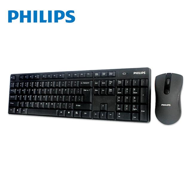 PHILIPS飛利浦 無線鍵盤滑鼠組 SPT6501 免運
