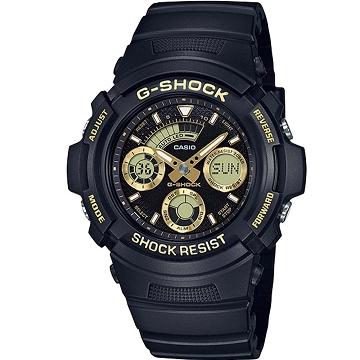 CASIO  三眼雙顯休閒腕錶 AW-591GBX-1A9