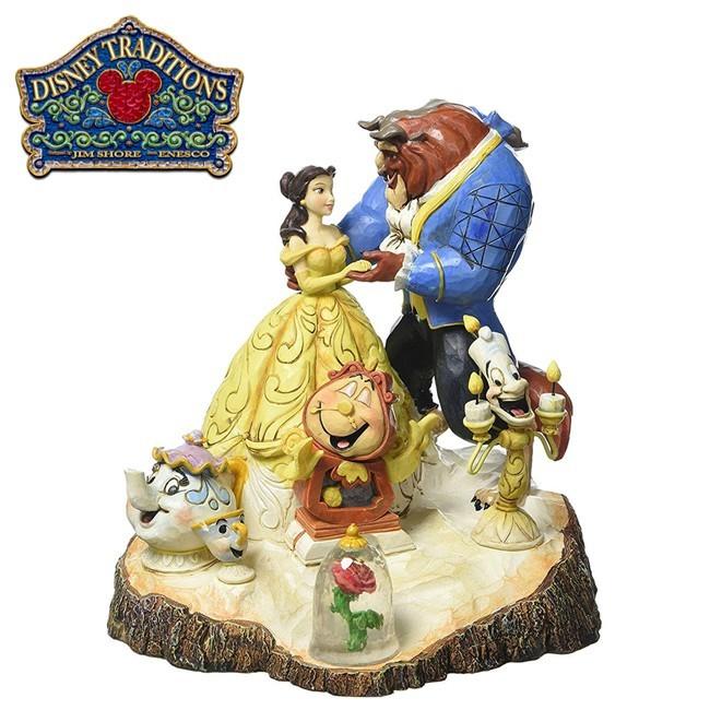 enesco 美女與野獸 童話主題 塑像 公仔 精品雕塑 貝兒公主迪士尼 disney 522700