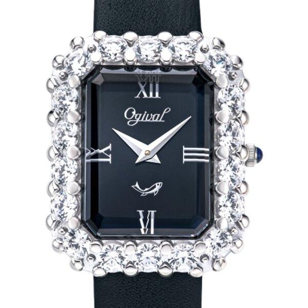 Ogival 愛其華 380-47DLW-GL 流星系列-方形珠寶錶