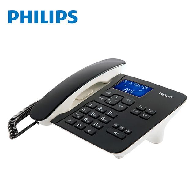 PHILIPS飛利浦 時尚設計超大螢幕有線電話(黑)CORD492B 免運