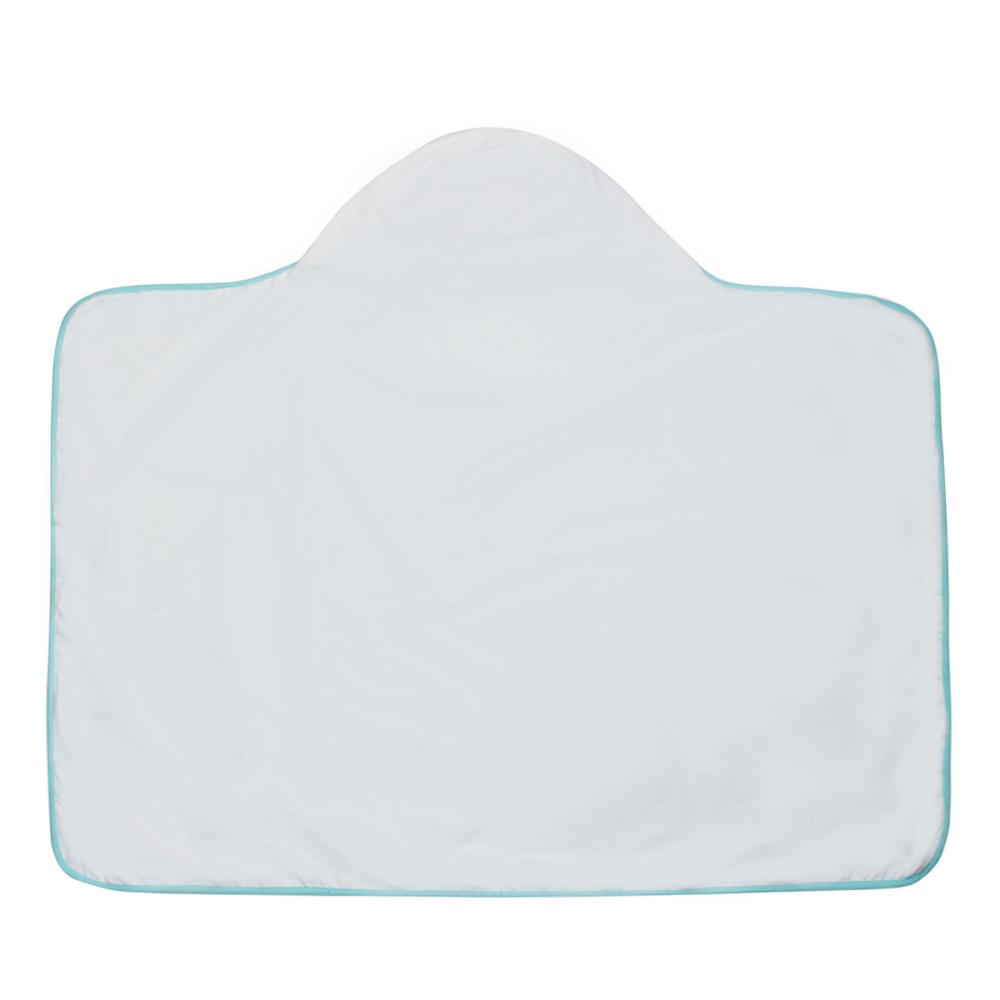 德國Lassig 嬰幼兒抗UV連帽快乾毛巾 純白