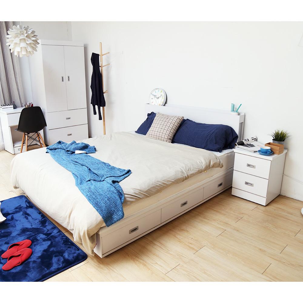 【obis】DIGNITASII狄尼塔斯/輕旅風系列5尺房間組-3件式-床頭+抽屜床底+床頭櫃(3色)