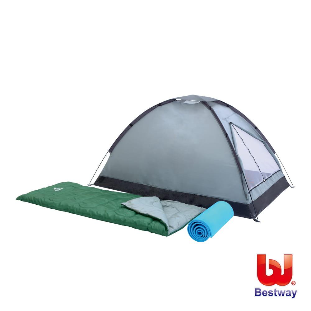 帳篷 睡袋 睡墊雙人露營套裝組