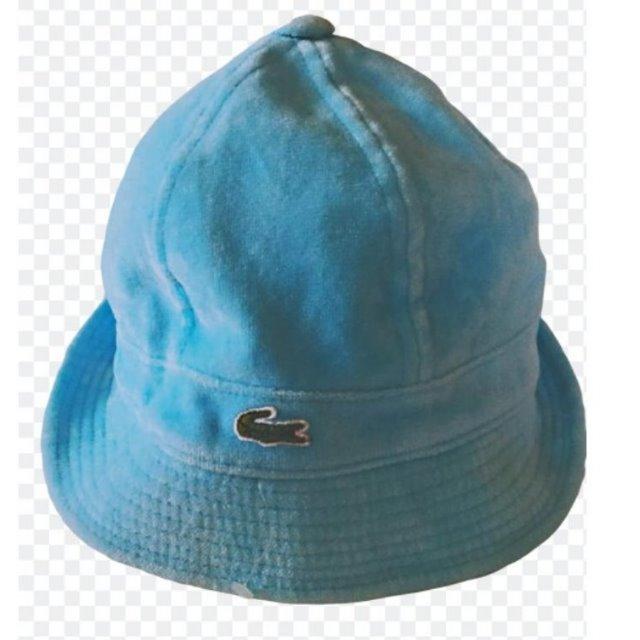 LACOSTE(正牌)-藍色-棉絨高爾夫休閒帽