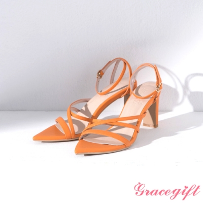 Grace gift X Ann 聯名繞踝尖頭高跟涼鞋