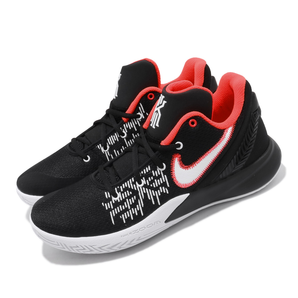 NIKE 籃球鞋 Flytrap II EP 運動 男鞋 Kyrie 低筒 避震 明星 XDR外底 黑白 [AO4438-008]