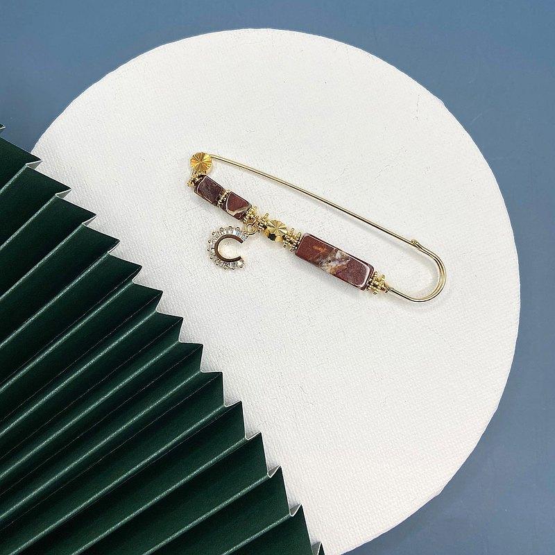 花松石胸針 日本風格胸針 情人節禮物 純手工