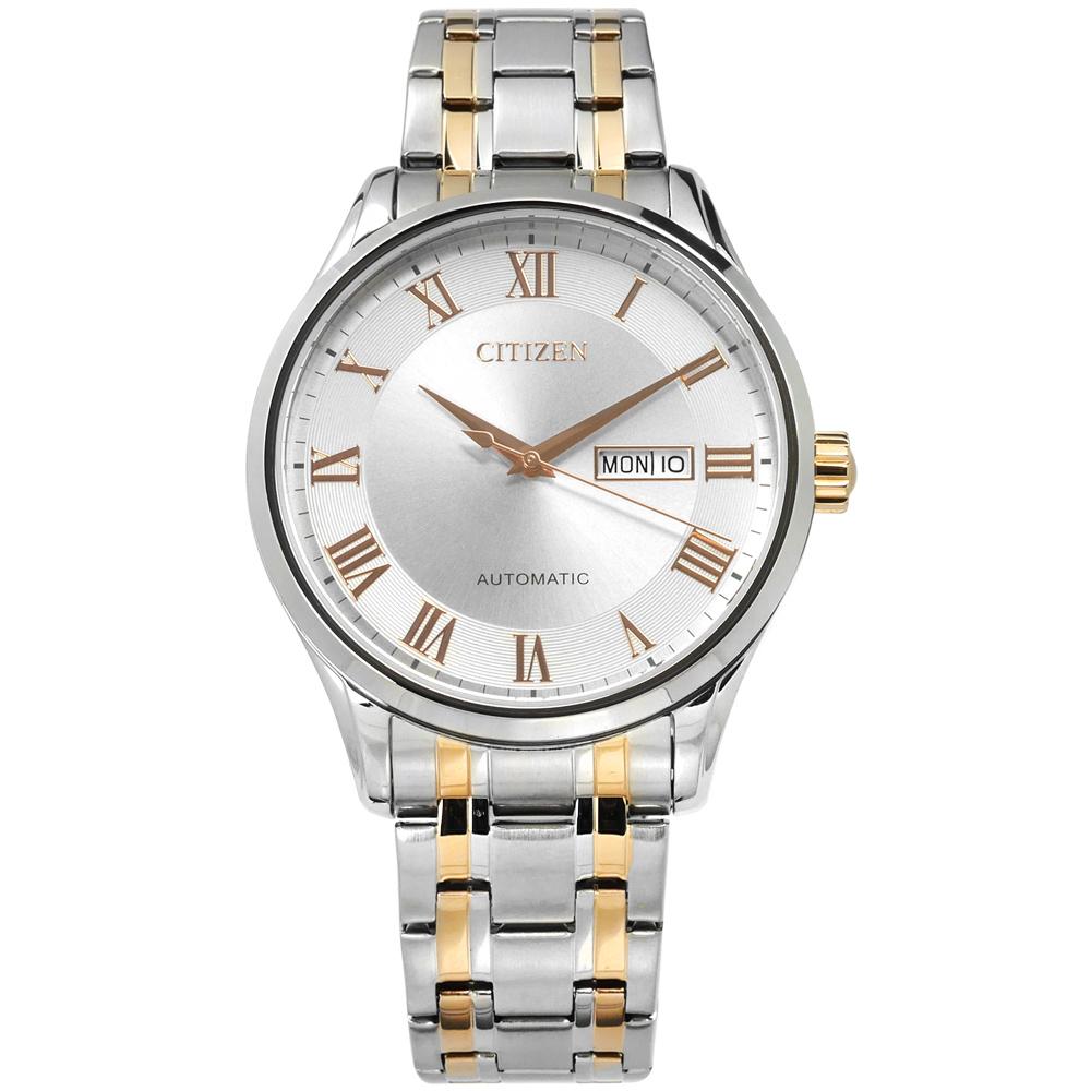 CITIZEN 星辰 機械錶自動上鍊 不鏽鋼手錶 NH8366-83A