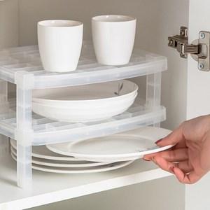 日本製造SANADA可疊放碗盤收納架(需自行組裝)3入裝