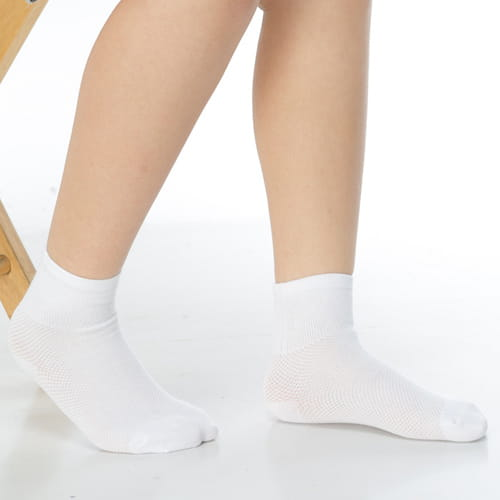 7~12歲學童專用毛巾底止滑短襪x3雙C93001