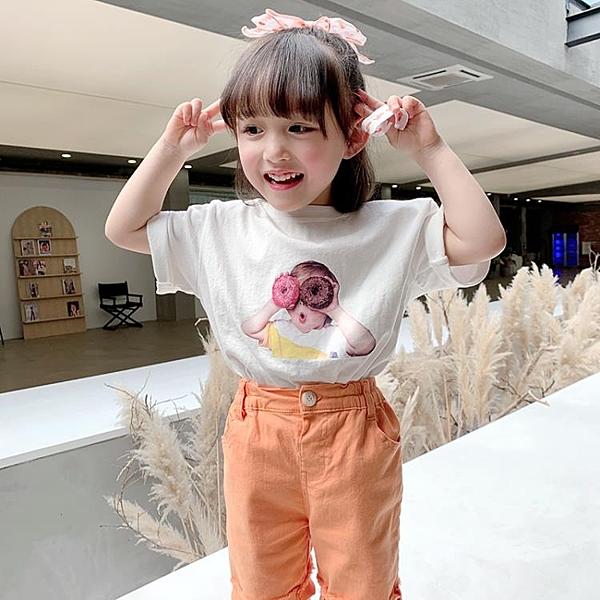 女童短袖T恤2020夏裝新款兒童寶寶洋氣純棉上衣小女孩寬鬆體恤潮 店慶降價