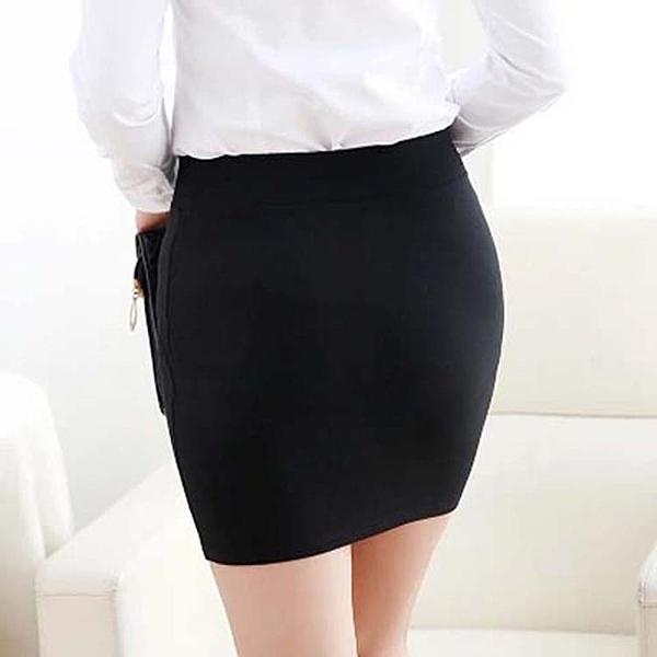 包臀裙春秋短裙職業半身裙高腰彈力一步裙黑色包裙工作裙正裝裙女 錢夫人小鋪
