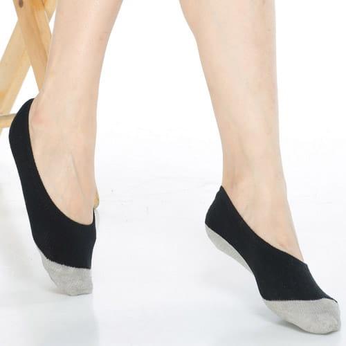 吸濕止滑減壓竹炭隱形襪*6雙-C502