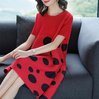 【KEITH-WILL】(預購) 時尚潮流點點風壓褶洋裝-3色