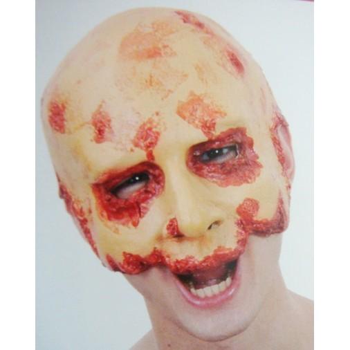 派對達人萬聖節面具/血腥面具/恐怖/乳膠面具/半臉血腥面具/頭套式~!