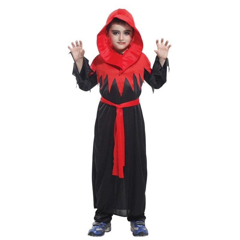 派對達人萬聖節服裝,萬聖節服飾,變裝派對,魔法師服裝.巫師服裝.兒童變裝服-小歌德裝