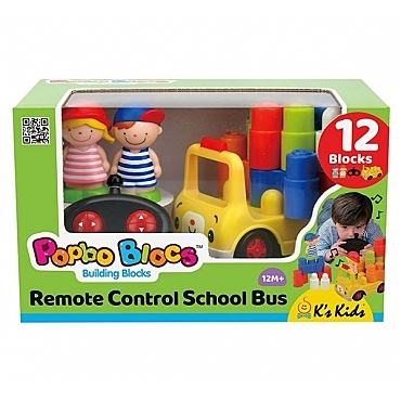 K's kids遙控安全積木校車SB004-72