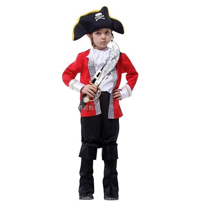 派對達人萬聖節服飾,萬聖節裝扮,海盜船長,兒童變裝服-海盜服裝/虎克小海盜