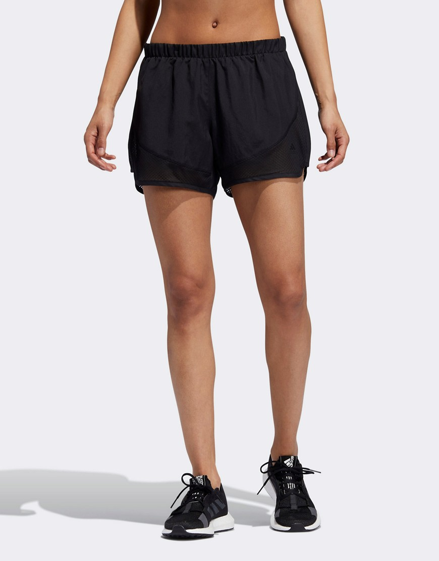 adidas Running 2 in 1 shorts in black