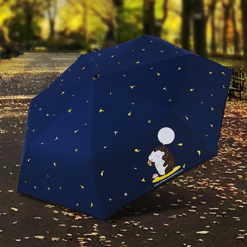 雙龍牌刺蝟降溫13度黑膠自動傘自動開收傘晴雨傘(海軍藍)