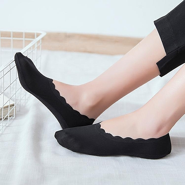 夏季冰絲船襪女超薄無痕硅膠防滑隱形襪花邊淺口單鞋襪套女棉絲襪