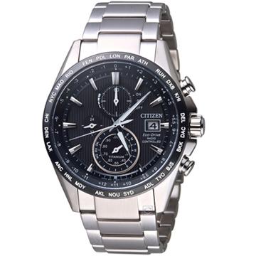 CITIZEN  GET'S系列鈦金紳士電波計時手錶AT8154-82E