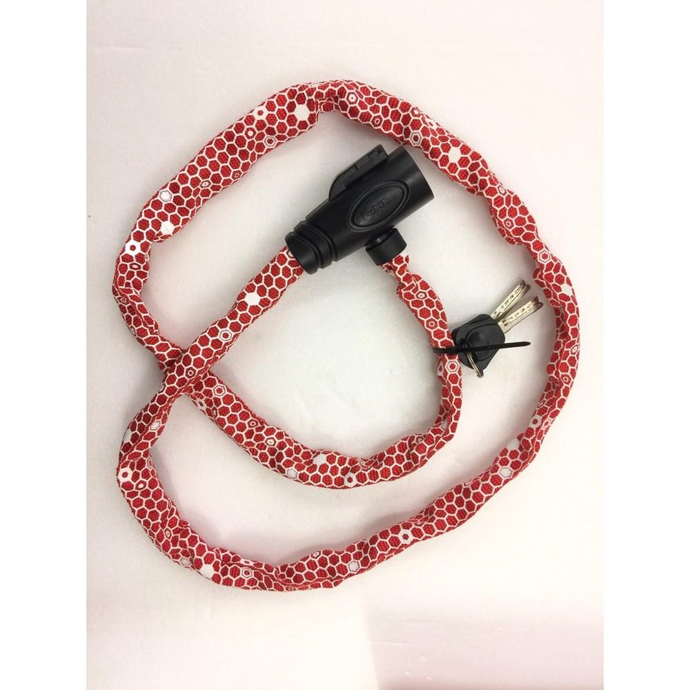 速度公園ghl 六角型格紋網 不織布鑰匙鎖 長度:1200mm 紅色 鎖具 鎖頭 公路車 小折